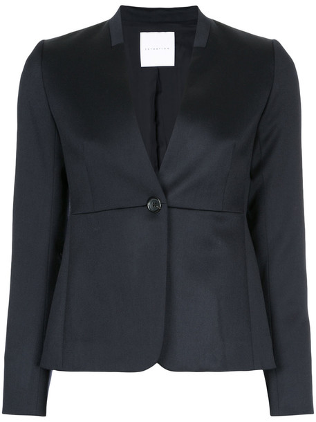 Estnation blazer women classic black wool jacket