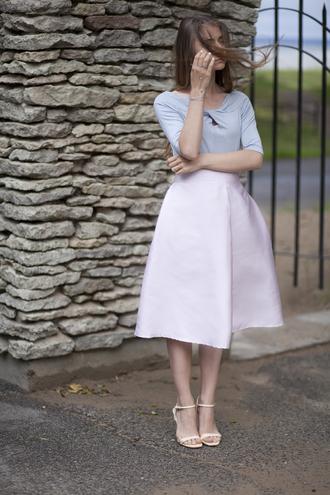 acid coke blogger classy midi skirt retro 50s style pink skirt