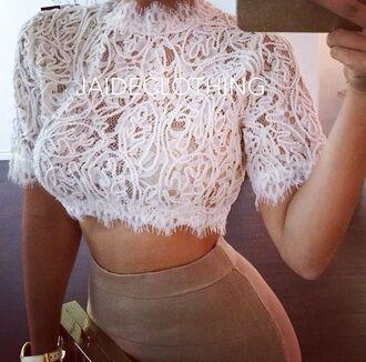 top crop tops lace