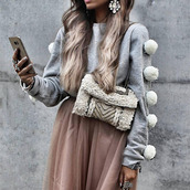 sweater,grey,sweatshirt,gray sweatshirt,gray pullover,pullover,fuzzy sweater,fluffy,hairy,pom pom sweater,casual,casual top,casual sweater,casual pullover,cotton,preppy,pretty,warm,cozy,girl,girly,girly wishlist,cute,cute top,jeans top,musthave,joggers,sweats,street,urban,tumblr sweater,style,gym,fit,blouse,gray blouse,moraki,gray sweaters,heather gray tops,pom poms,winter outfits,winter sweater,fall outfits,fall sweater,fall colors,holiday season,holiday gift,streetstyle,streetwear,tumblr girl,turtleneck,fashion,fitness
