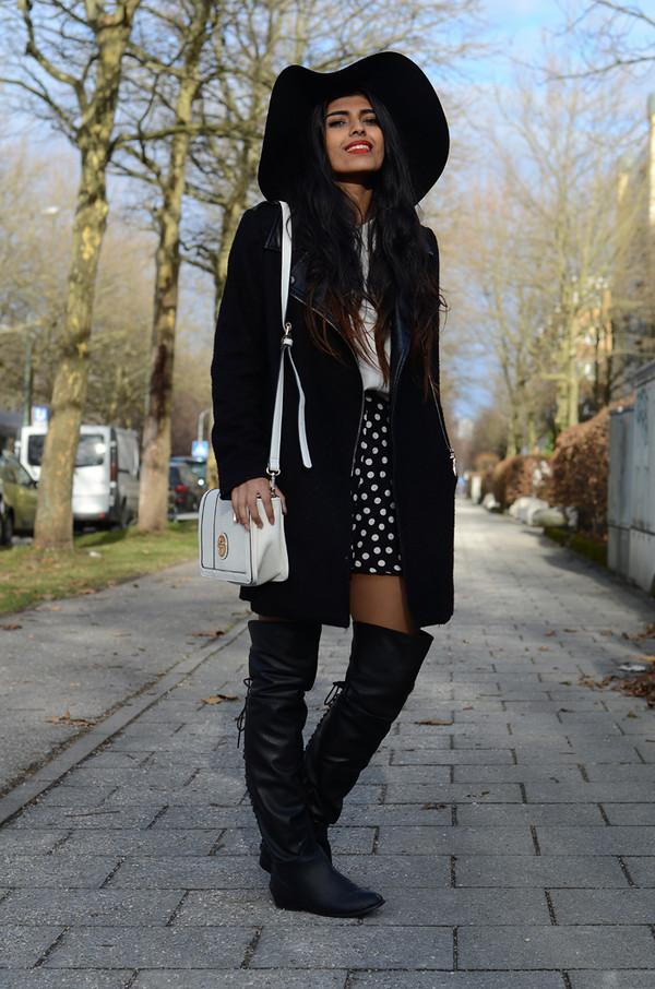 she wears fashion shoes coat bag
