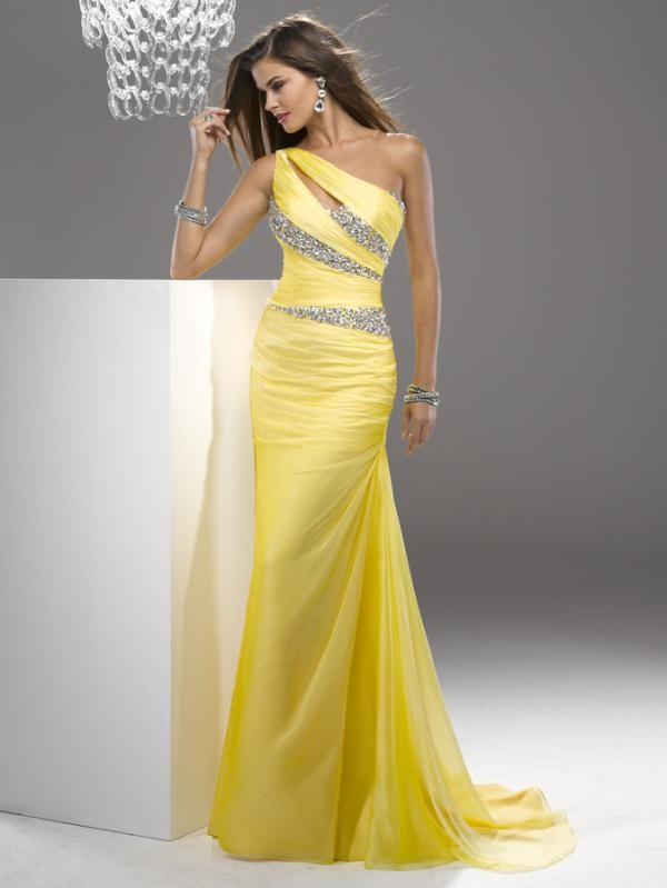 party gowns for girls one shoulder chiffon prom dresses prom dress
