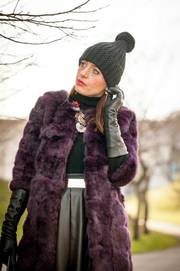 Longline Fur Coat - OASAP.com