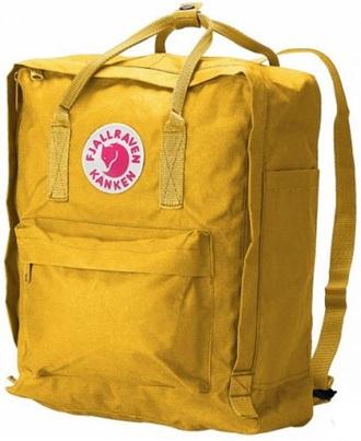 bag hipster knapsack backpack back to school modern cool classy girly yellow fjallraven kanken