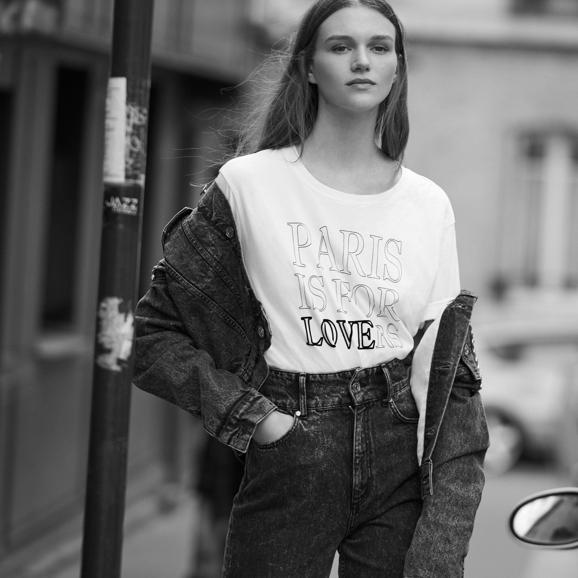 T-shirt en coton avec inscriptions