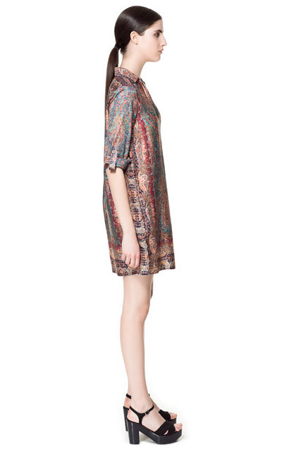 robe tunique imprimee robes femme zara france With robe tunique zara