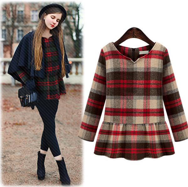 dress, dress autumn fall, cute dress, plaid, plaid dress ...