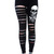 Banned Punk Goth Black Leggings Slash Rip Skull Skeleton Hands All Sizes | eBay