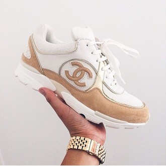 shoes chanel shoes trainers white trainers