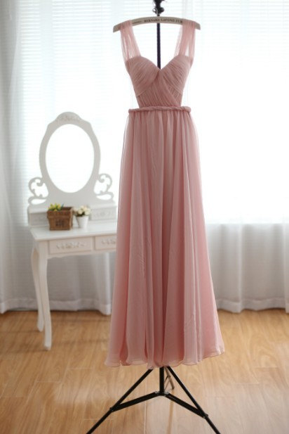 Custom blush pink sexy prom dress gown