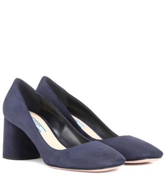 Prada suede pumps pumps suede blue shoes