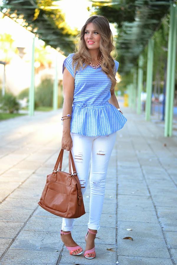 mi aventura con la moda blogger blouse jeans shoes t-shirt jewels bag