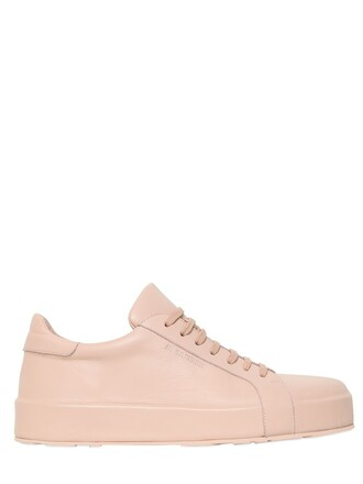 leather light pink light pink shoes
