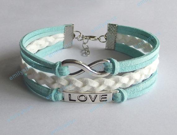Mint Bracelets Infinity Bracelet Love Bracelet By Emilysbox