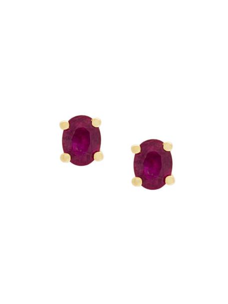 Wouters & Hendrix Gold women earrings stud earrings gold purple pink jewels