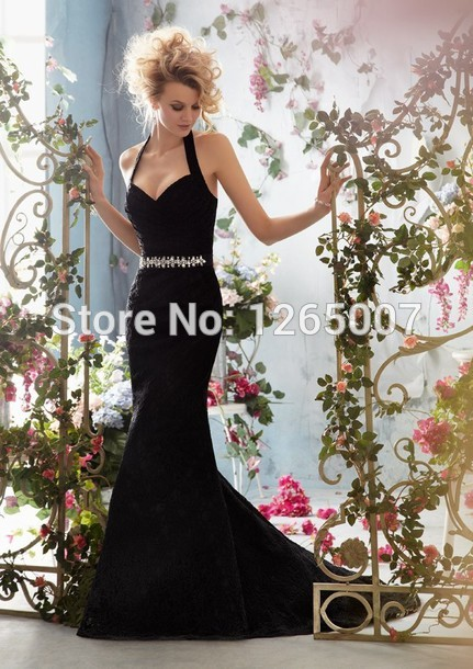 Aliexpress.com : Buy 2014 Fashion Halter Sweetheart Lace Silvery Beaded Mermaid Evening Dresses Formal Special Occasion Dresses from Reliable dress prints suppliers on SFBridal