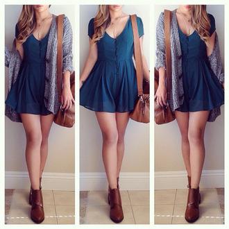 blue dress short girly dress casual casual dress