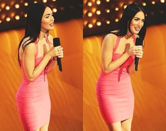 dress neon pink maxi dress megan fox