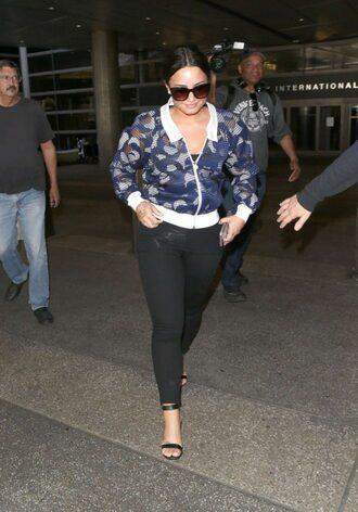 shoes jacket sandals sandal heels sunglasses demi lovato