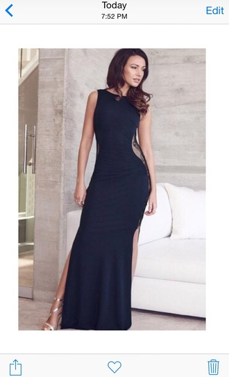 dress black dress maxi long