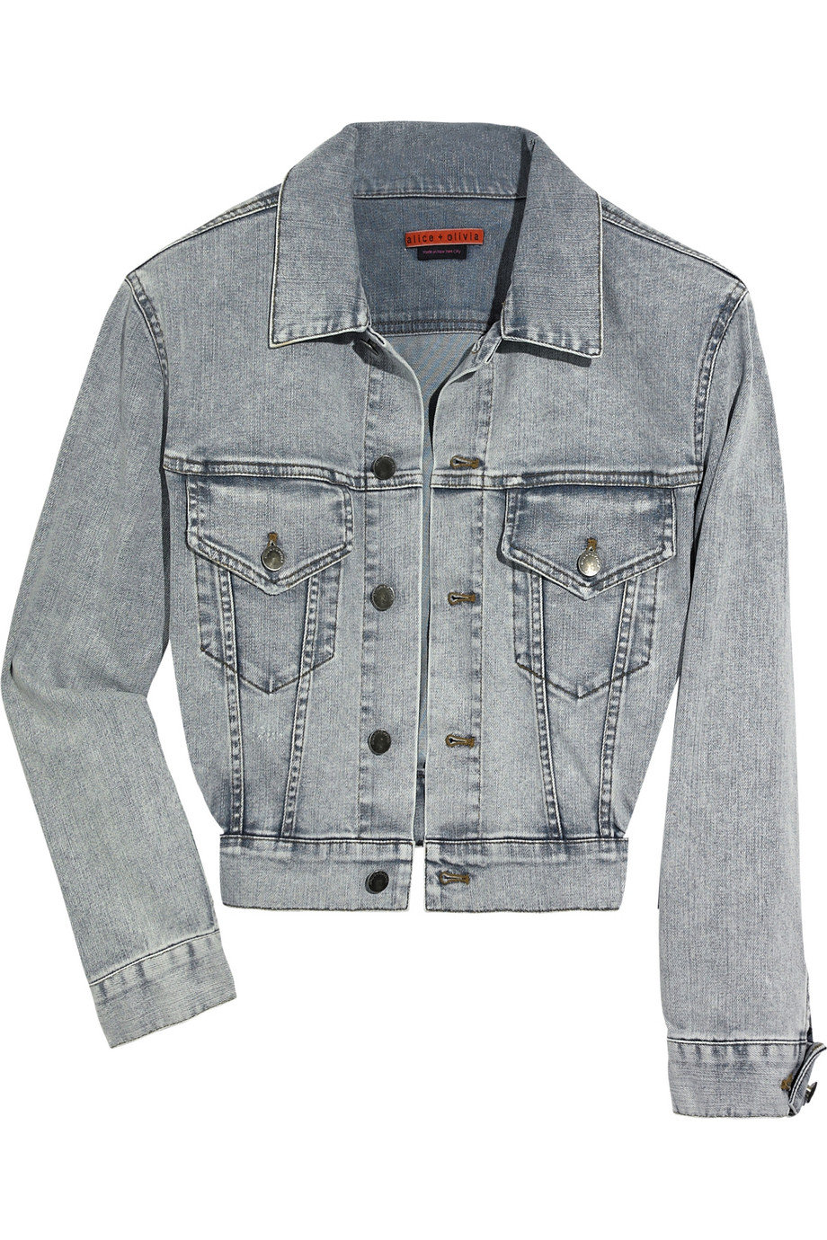 e85068c71 Discount Alice Olivia Mai cropped denim jacket | THE OUTNET