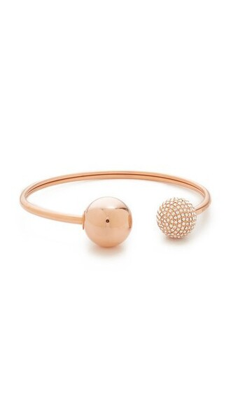 cuff rose gold rose clear cuff bracelet gold jewels