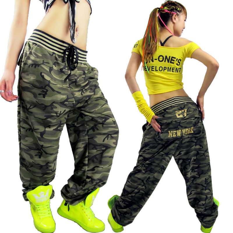 Free shiping!Hip hop pants women Large pocket Casual pants Camouflage pants hiphop jeans Female trousers Loose  hip hop clothing-inPants & Capris from Apparel & Accessories on Aliexpress.com