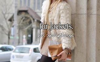jacket white fur fur faux fur jacket faux fur coat white