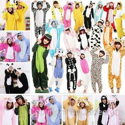 Adult unisex onesies kigurumi pajamas animal cosplay costume dress sleepwear
