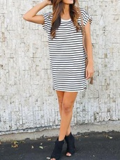 dress,girly,girl,stripes,striped dress,black and white
