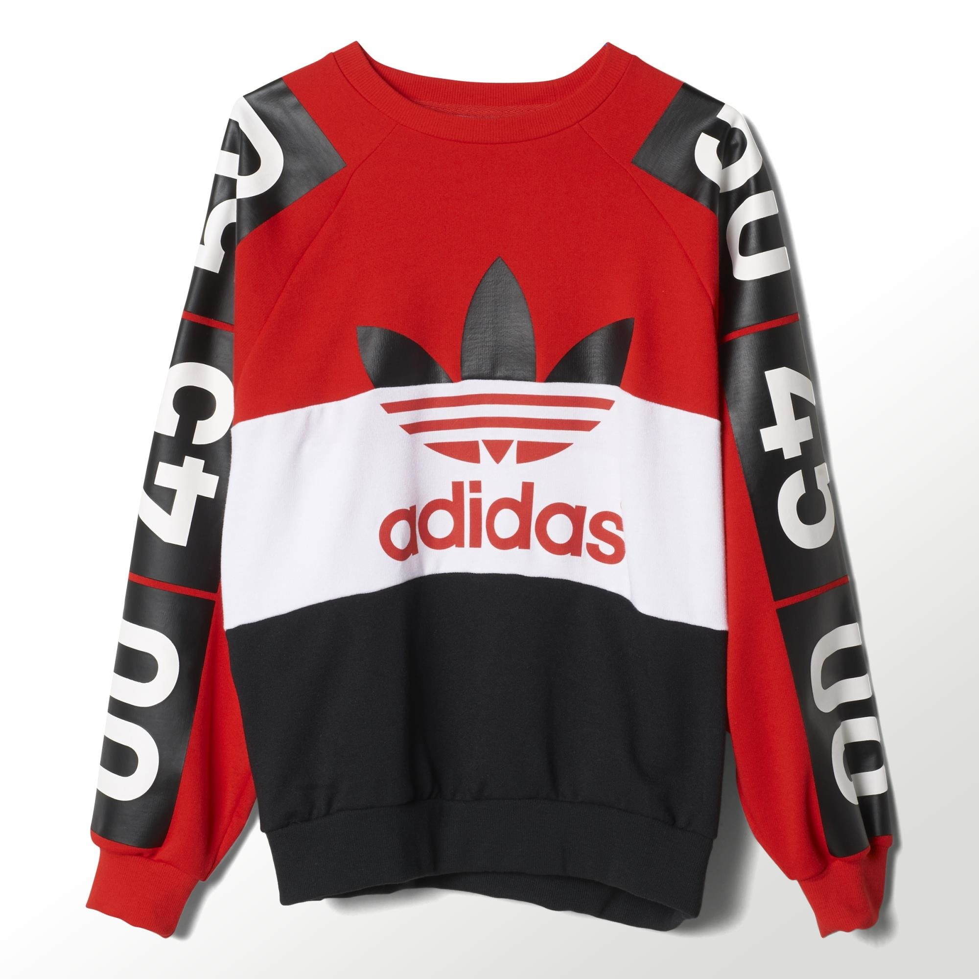 adidas topshop superstar sweatshirt red adidas uk. Black Bedroom Furniture Sets. Home Design Ideas