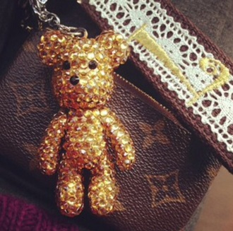 teddy bear keychain hair accessory
