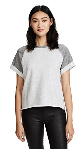 Rag & Bone/JEAN grey heather grey top