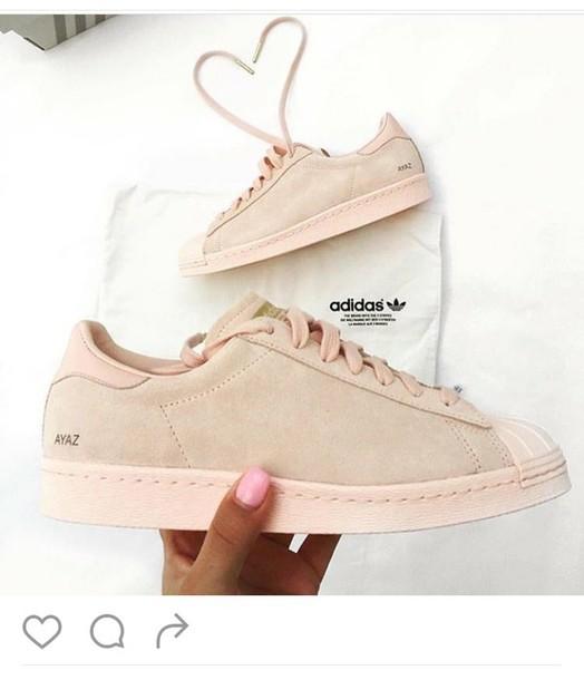 shoes pink sneakers suede sneakers adidas superstars low top sneakers