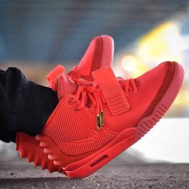 shoes yeezys red october