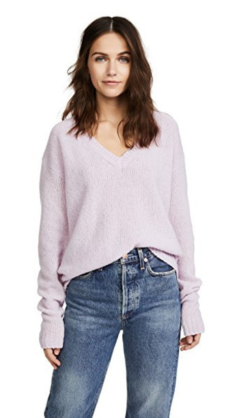 Marc Jacobs sweater v neck pale lilac