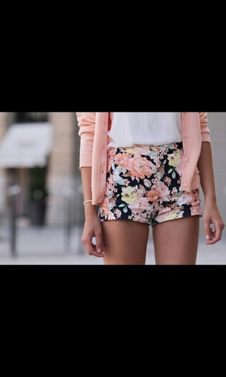 shorts flowers indie beautiful blogger classy colorful jeans cardigan blouse