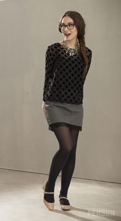Stylish Mini Skirt with Lace Hem [FMCC0191] - PersunMall.com