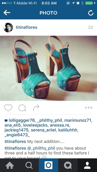 shoes teal teal clogs amelia fuertes