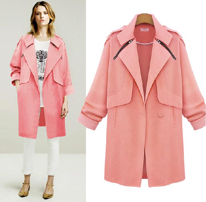 Pink tweed parka coat – goodnight macaroon