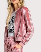 jacket,velvet,girly,pink,crushed velvet,zip,zip up jacket