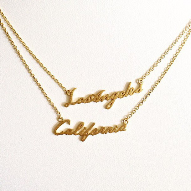 jewels jewel cult jewelry necklace gold gold necklace script