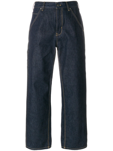 Calvin Klein Jeans jeans high waisted high women cotton blue