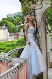 sherri hill,fashion,floral dress,prom dress,dress,long dress,evening dress