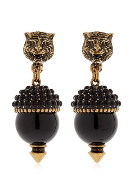 gucci tiger earrings black jewels
