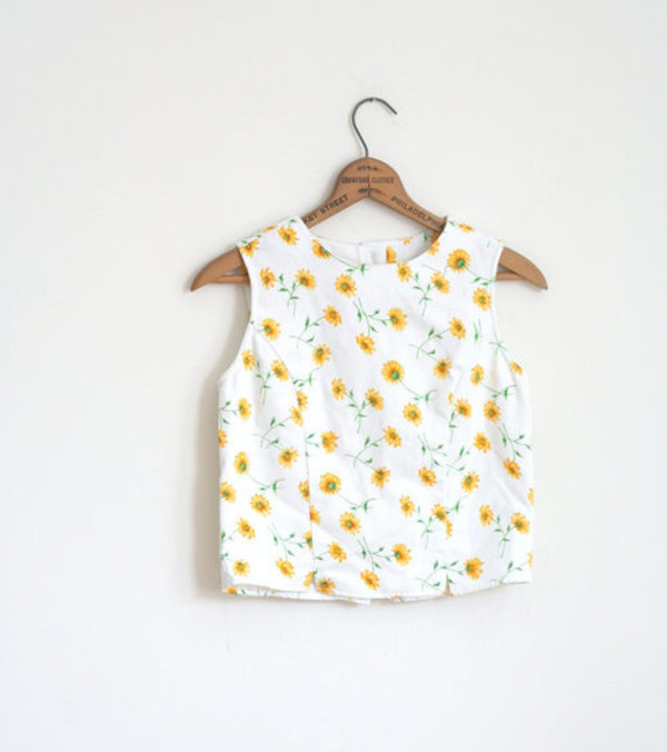 t-shirt sunflower top