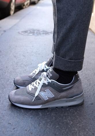 pants grey new balance grey pants