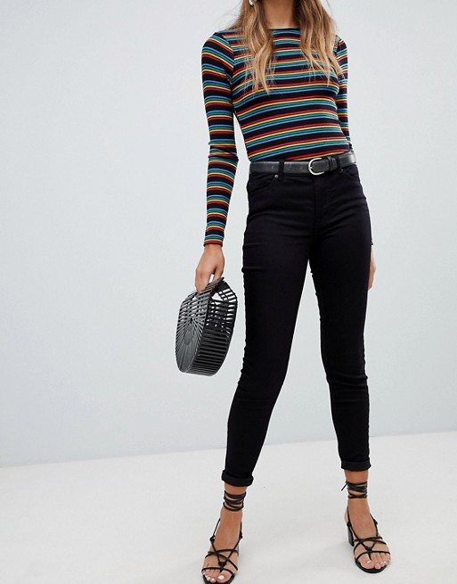 New Look india jeans with super skinny fit in black at asos.com