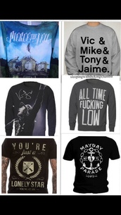 sweater,mayday parade,pierce the veil,punk,rock,all time low,sweatshirt