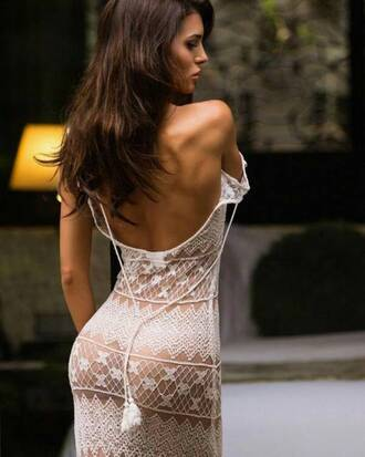dress white dress white lace sheer sexy